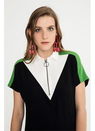 Gömlek Yaka Mini Elbise-Just like you